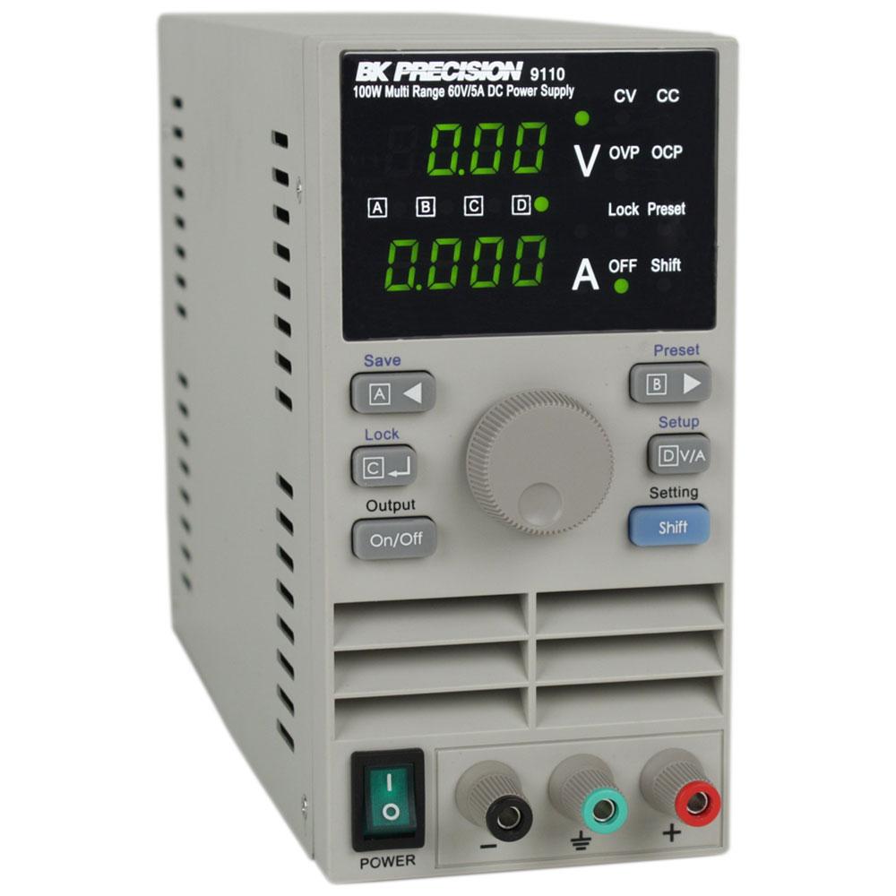 Bk Precision 9110 100W Multi Range 60V/5A Dc Power Supply