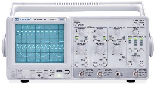 Gw Instek Gos-6103 100 Mhz, Analog Cursor Readout Oscilloscope