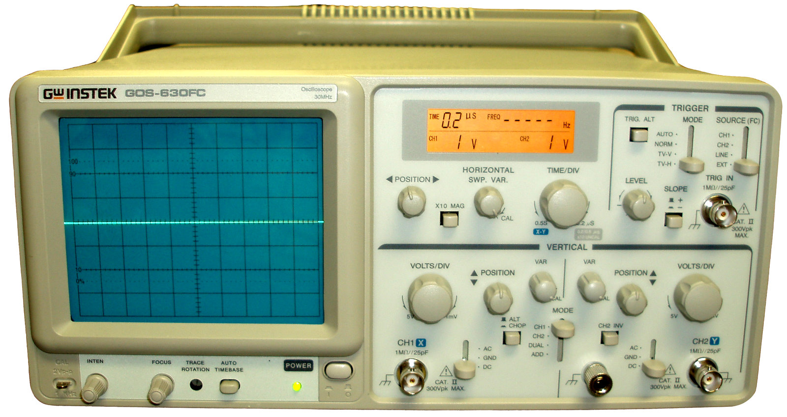 Gw Instek Gos-630Fc 30 Mhz, Oscilloscope With Frequency Counter