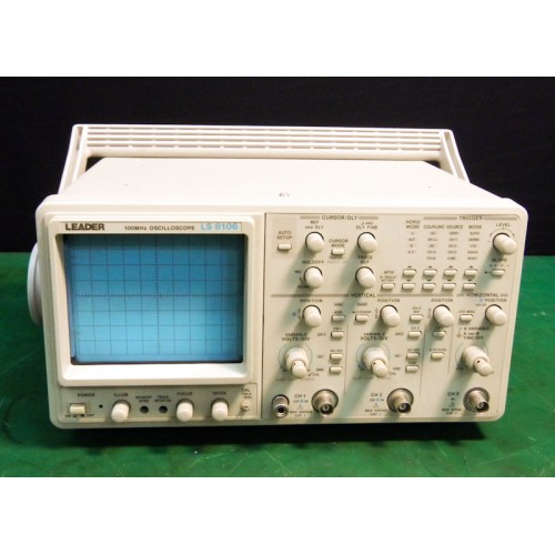 Leader Electronics Ls 8106 100Mhz, 3 Ch Analog Oscilloscope