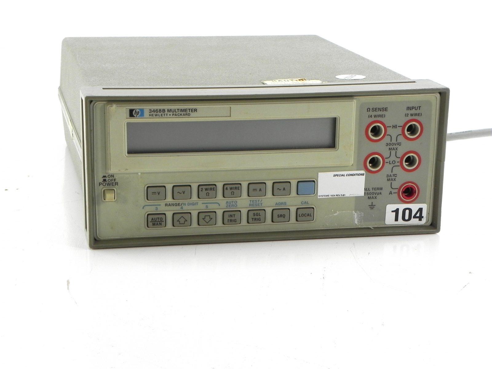 Agilent 3468B Multimeter