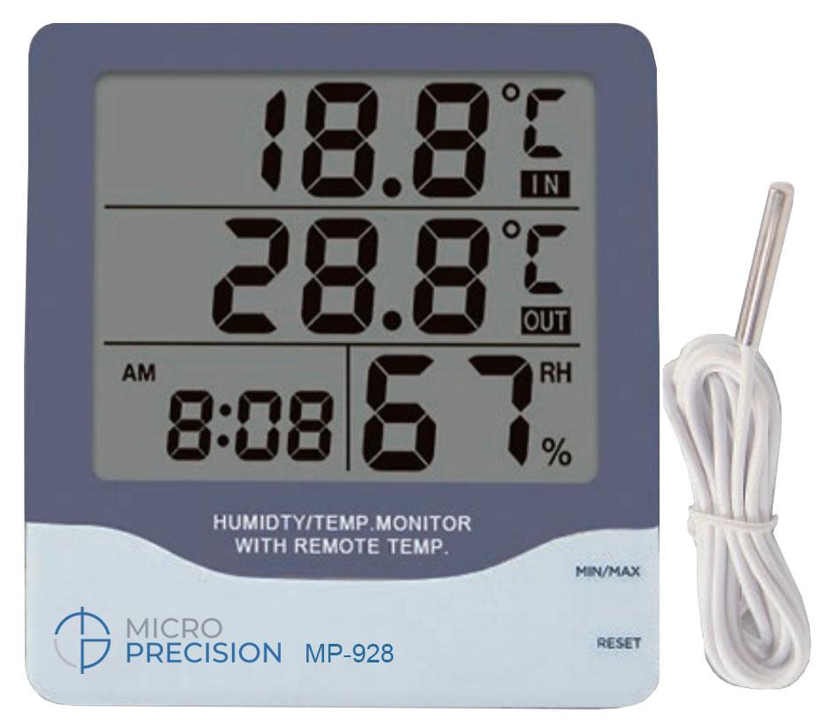 Micro Precision MP-928 Humidity | Temperature Monitor With Remote Temp
